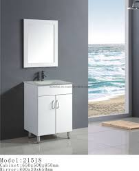 Small White Bathroom Vanities by Gray Wall Paint Mirror With Wooden Frame Real Wood Small Vanity