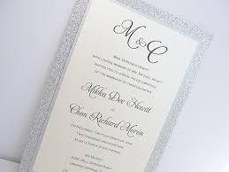 vintage wedding invites glitter wedding invitation