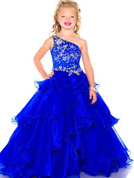 pretty dresses pretty blue one shoulder flower girl dresses pageant