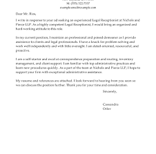 cover letter examples for receptionist position employment cover