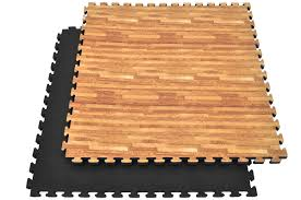 mat en bois puzzle mat 3cm wood black