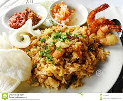 rice cuisine food fried rice with seafood stock image image of cafe