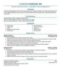 resumes for nurses template best registered resume exle livecareer