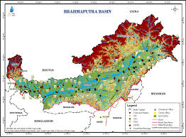 India River Map by Brahmaputra