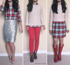plaid bow sequins holiday office party ideas extra