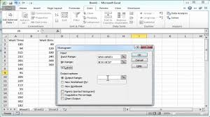 10 How To Create A Creating A Histogram In Excel 2010 Youtube