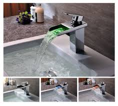 bathroom sink waterfall faucets with lighting interiordesignew com