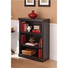 Mainstays 5 Shelf Bookcase Alder Wood 3 Shelf Bookcase Multiple Finishes Color Black Roselawnlutheran
