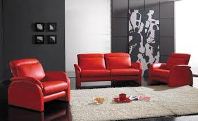 red and black living room clear glass big window white pot desk