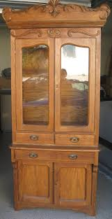 antique hutch with glass doors for sale antique hutch