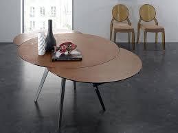 Table En Verre Avec Rallonges by Table Ronde à Rallonges En Verre