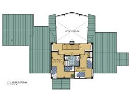 Timber Floor Plan by The Hughes A Cozy Cottage Timber Frame Hq
