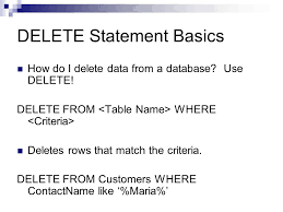 Delete Data From Table Sql Review Tonga Institute Of Higher Education Sql Introduction