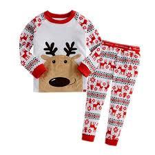 pajamas santa claus and reindeer pajama sets