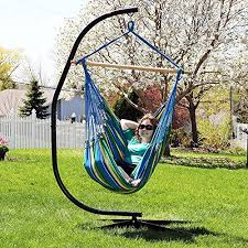 sunnydaze jumbo 44 inch wide hanging hammock chair and 7 ft c