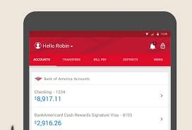 bank of america app for android tablets bank of america revs interface in version 7 adds
