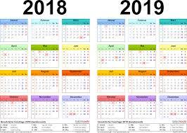 Kalender 2018 Hamburg Excel Zweijahreskalender 2018 2019 Als Excel Vorlagen Zum Ausdrucken