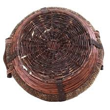 buy round dark brown baskets with handles 5363rd series online