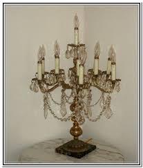 Chandelier Desk Lamp Vintage Crystal Chandelier Table Lamp Home Design Ideas