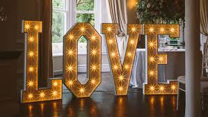 large light up letters sparkle light up love letters by the word is love wedding