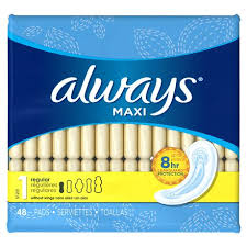 maxi size always maxi size 1 regular pads without wings walmart canada