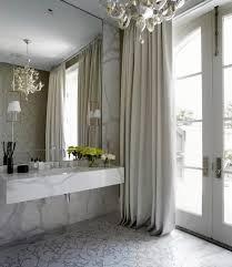 Fleur De Lis Bathroom Decor by White And Silver Bathroom With Fleur De Lis Roman Shade