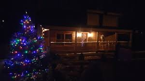 lazy christmas lights lazy river is decorated smoky mountain dreams cabin resort