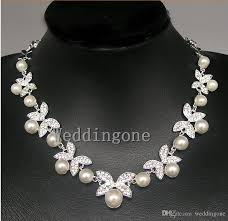 diamond pearl necklace set images 2015 new ivory pearl ladies 39 jewelry set including necklace and jpg