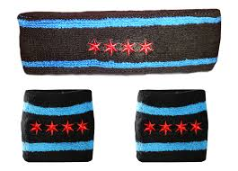 sweat band chicago flag sweatband bundle black custom sweat