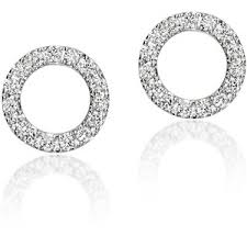 circle earrings astley clarke white gold diamond circle earrings polyvore