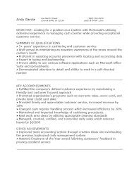 Cashier Job Responsibilities For Resume by Mcdonalds Cashier Resume Free Resume Example And Writing Download