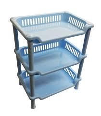 3 Tier Shelving Unit by 3 Tier Collapsible Bathroom Or Kitchen Rack Storage Shelves Unit