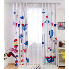Fish Curtains Nautical Fish Print Polyester Curtains