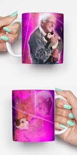 bernie sanders cat funny mug gifts for him meme mug