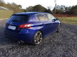 peugeot 308 gti blue fleetcar ie reviewed peugeot 308 gti fleetcar ie