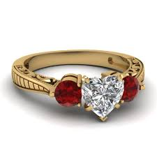 Heart Wedding Rings by Affordable 3 Stone Heart Shaped Engagement Rings Fascinating