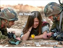 Army Girlfriend Memes - just funny flower girl and soldiers by timon moor 7 meme center