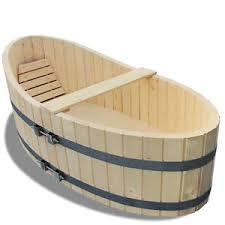vasche da bagno legno 178x87cm vasca da bagno in legno massiccio completa di rubinetto