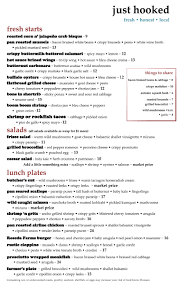 menus seafood restaurant fenwick island de just hooked