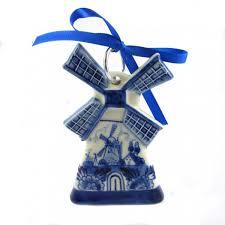 ornament windmill delft blue 10 cm gr