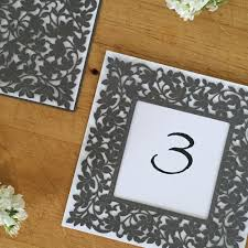 Laser Cut Table Numbers Table Numbers Paper Orchid
