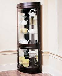 corner china cabinet ashley furniture living room how to decorate a china cabinet with crystal living