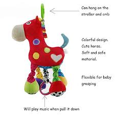 wingingkids baby musical toys stroller hanging toy stuffed animal
