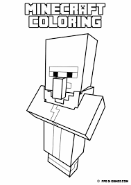 minecraft coloring villager jpg