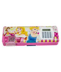 pencil box dreambag princess pencil box with calculator buy online at best