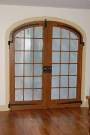custom built french doors interior exterior arch