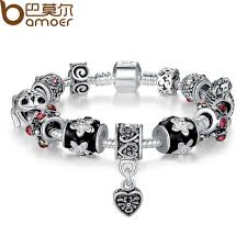 silver bead bracelet with heart images Bamoer high quality european tibetan silver beads bracelets jpg