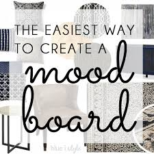 decorating with style the easiest way to create a mood board blue