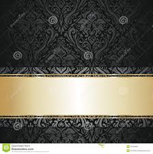 Gray And Gold Black And Gold Vintage Wallpaper Royalty Free Stock Photo Image