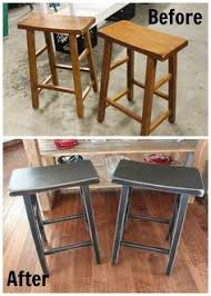 saddle seat bar stools refinished in antique black inspirational